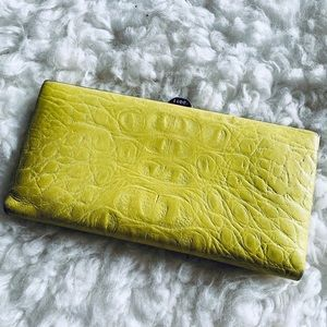 Lodis Neon yellow Wallet